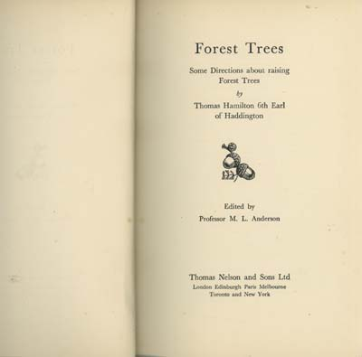 Image for Forest Trees - Some Directions About Raising Forest Trees (edited By Professor M.L.Anderson)