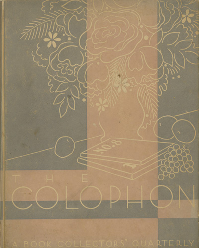 Image for The Colophon Part Eight (A Book Collectors Quarterly)