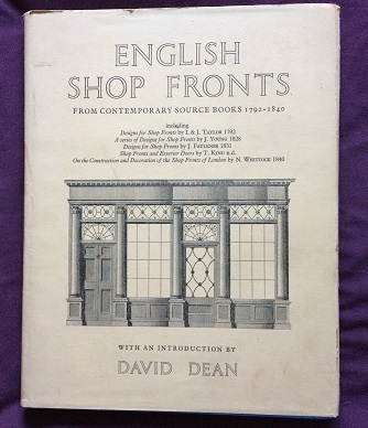 Image for English Shop Fronts from contemporary sourcebooks 1792-1840