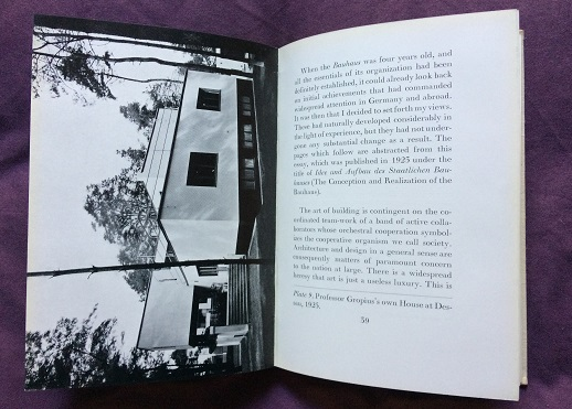Image for The New Architecture and The Bauhaus (Translated by P.Morton Shand with a preface by Frank Pick)
