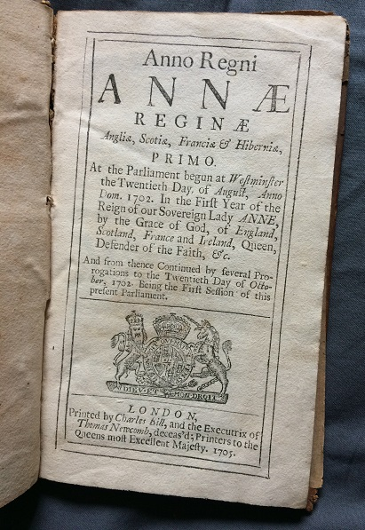 Image for Anno Regni Annae reginae Anglia, Scotia, Francia & Hibernia, Primo - At the parliament begun at Westminster the Twentieth Day of August, Anno Dom.1702.....Being the First Session of this present Parliament - An Act for Granting a Supply to Her Majesty, by several Duties Imposed upon Malt, Mum, Cyder and Perry