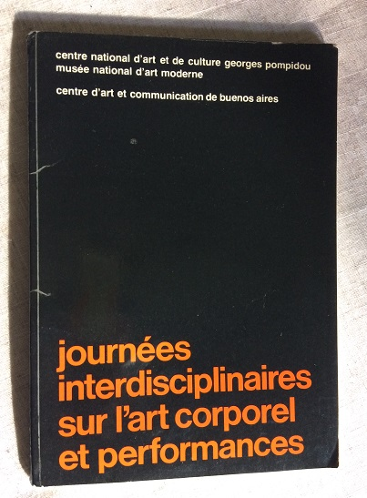 Image for Journees interdisciplinaires sur l'art corporel et performances
